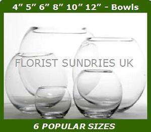 Glass-Fish-Bowl-Large-Decorative-Wedding-Party-Ball-Vases-Flower-Display-6-SIZES