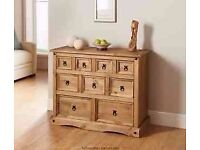 Solid Mexican Pine Corona Sideboard - 9 Drawer
