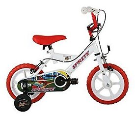 Sonic Sprite Kids' Kids Bike White 1 speed mag style wheels fully enclosed
