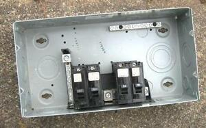 NEW ELECTRICAL PANEL BOX  WITH 4 ITE 15AMP BREAKERS