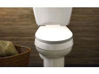 Toilet Seat (White D shape) soft close