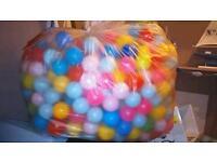 Huge bag of ball pool balls
