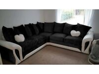 BRAND NEW SHANNON CRUSH CORNER SOFA / 3+2 SEATER AVAILABLE ORDER