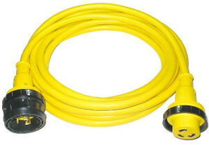 Conntek-30A-125V-12Ft-Marine-Shore-Power-Cord-Cordset-17105-012RE