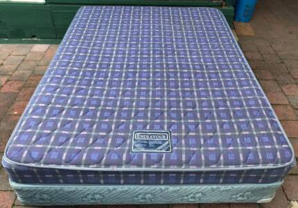 Good Queen bed base with mattress. Delivery can be organised