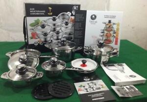 16PC. Cookware Set w-Stainless Steel Lids