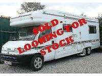 I WANT TO BUY YOUR MOTORHOME - Autotrail Arapaho Tag Axle - Rear Lounge - SOLD