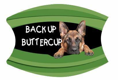 Face Mask Washable Back Up Buttercup German Shepherd Dog