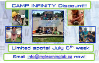 Discount!!! CAMP INFINITY has spots for a few more keen campers!