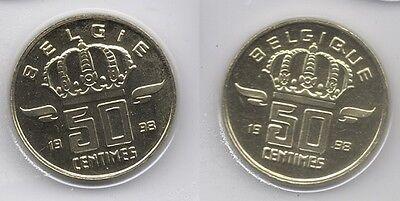 50 cent 1998 fr+vl * uit muntenset * FDC / UNC *