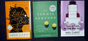 3 books:Little Bee:The Tennis Partner:Queen of Babble in BigCity