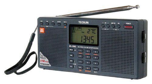 Tecsun Pl-390 Dsp Digital Am/fm/lw Shortwave Radio With Dual Speaker
