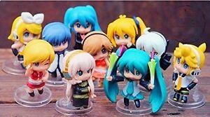 Vocaloid HATSUNE MIKU 10 pcs Cute Minifigure Set: Rin Len Meiko Neru Kaito Haku