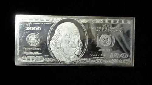 100 Dollar Silver Bar Ebay