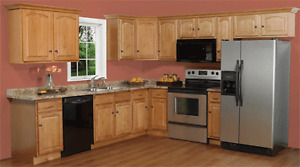 March Madness 10% off Instock Oak L/VD Solid Wood Cabinets