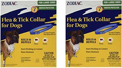 (2 Pack) Zodiac Flea and Tick Collar for Large Dogs