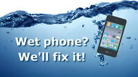 Water damaged cell phone repair (iPhone 3s, 4, 4s, 5, 5c, 5s, 6)