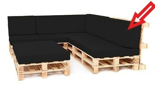 Back Cushion Large Black For Outdoor Pallet Furniture Seating Water Resistant Never Used 2