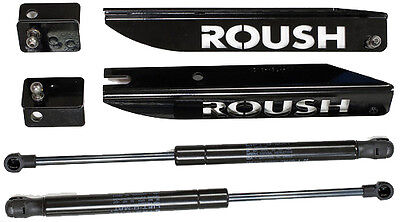 2005-2014 Mustang Roush Black Stainless Steel Gas-Charged Hood Struts Lift Kit