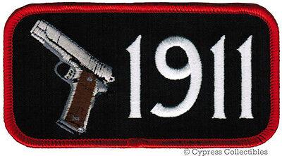 GUN PATCH 1911 PISTOL EMBLEM 2nd AMENDMENT EMBROIDERED IRON-ON SEMI-AUTO M1911A - $4.50