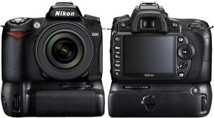Nikon D90 paqckage with lens, tripod, and speedlight