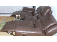 Leather sofa recliner 3 Seater