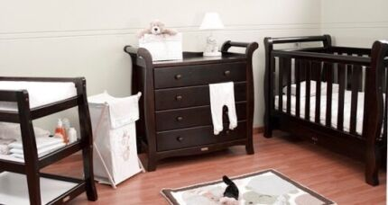 Love N Care Sleigh Cot, Tall Boy & Change table package Greenbank Logan Area Preview