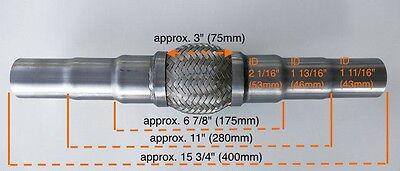 Für Fiat Universal Flexrohr Flexstück Flammrohr Hosenrohr Auspuff 45x48x55 400MM
