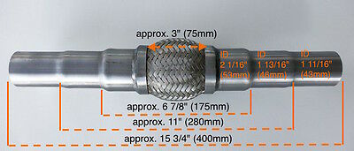 Heavy Duty Exhaust Flex Pipe Stainless Steel Double Braided 6 7/8