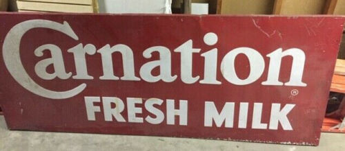 VINTAGE CARNATION MILK SIGN