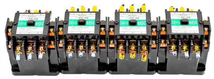 4x Matsushita FC-35 200V Coil Green Power Magnetic Contactor BMF6-35-2 w/BMF9912