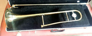Carlton Lacquered Brass Trombone With Hard Case