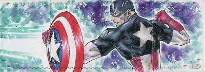 Marvel Premier 2017 4 Piece Panel Sketch Card By Idan Knafo - Iron Man Cap Amer.