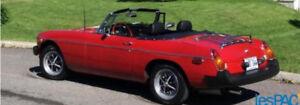 Superbe MGB 1977 rouge a vendre