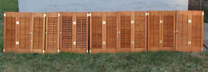 Shutters-wooden, louvered