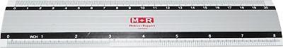 M+R Lineal 20cm Alu rutschfest Schullineal Alulineal Zeichenlineal