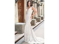 Jovani Off-White and Nude Sleeveless Lace Prom Dress *NEVER WORN*