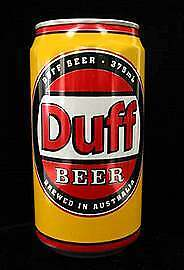 Rare DUFF Beer Can