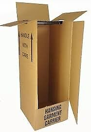 Cardboard Wardrobes - Removal / Packing Boxes With Rails (4 available)