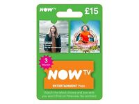 NOW TV Entertainment 3 Month Pass , Xbox One, Xbox 360, PS4, PS3 etc ! price stands , no offers !