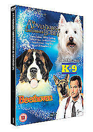 THE ADVENTURES OF GREYFRIARS BOBBY/BEETHOVEN/K-9 (DVD, 3DISC BOX SET)