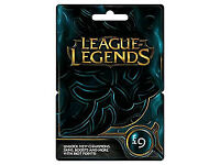 League of legends, 9 pound riot card