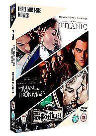 Titanic/The Man In The Iron Mask/Romeo And Juliet (DVD, 2006, 3-Disc Set, Box...