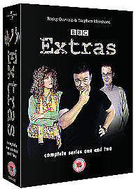 Extras-The-Complete-Series-1-amp-2-2005-DVD-Good-DVD-Ricky-Gervais-Stephen