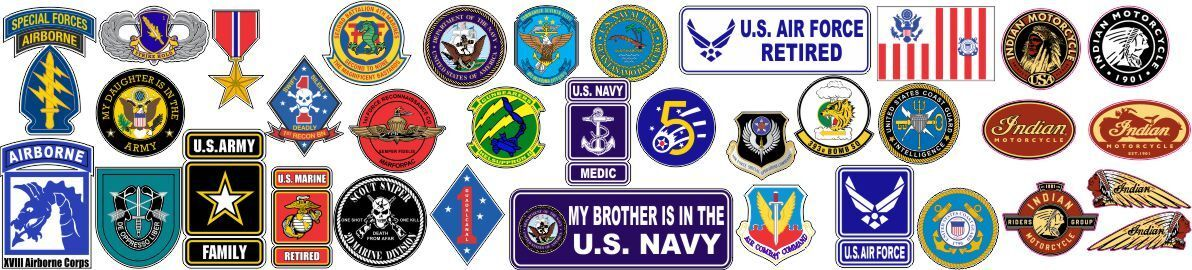I Sell Stickers Plus Military Decal