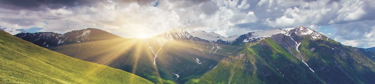 Hut und Berg Balance