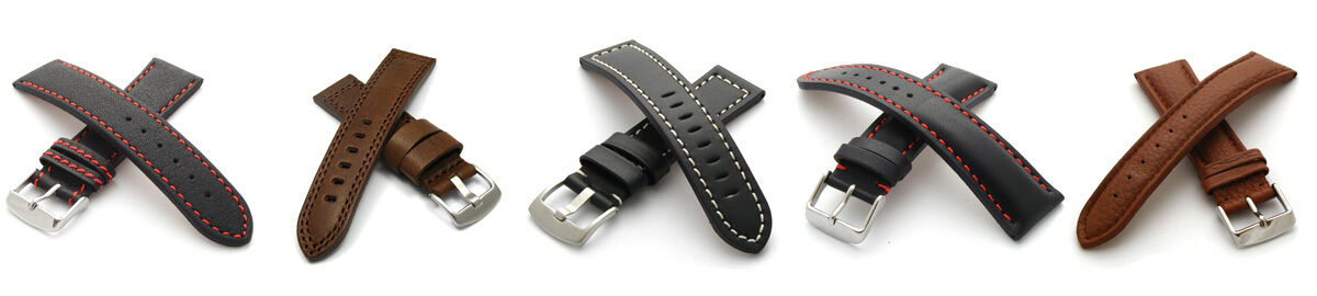 replacement leather watch straps