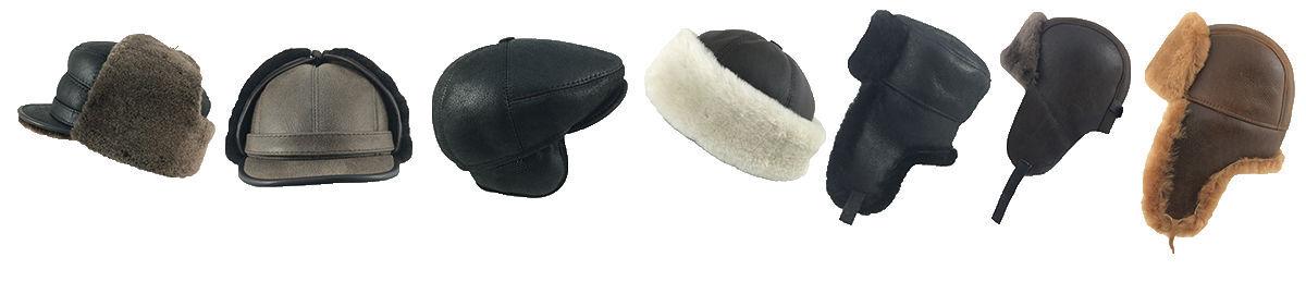 Golden Leather & Sheepskin Hats