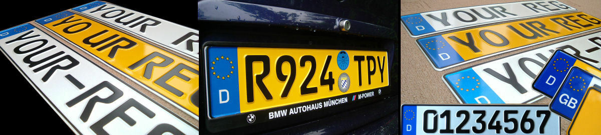 GERMAN NUMBER PLATES