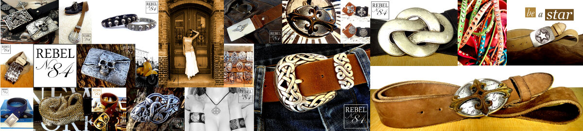Rebel 84 buckles + belts